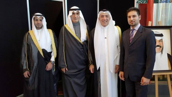 Kuwait Ambassador to New Zealand Ahmed Bader Razouqi, second from right, at Te Papa in February 2016 on Kuwait's National Day.
