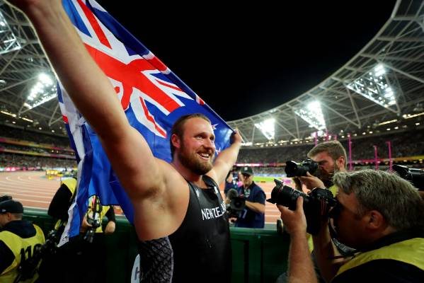 A proud moment as Tom Walsh become the first New Zealand man to medal at the World Athletics Championships.