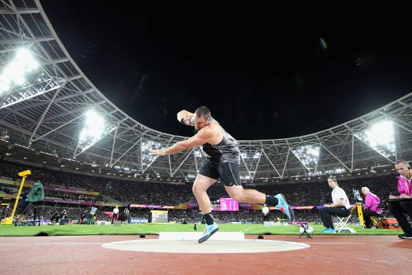 Tom Walsh goes for gold at the IAAF World Athletics Championships London.