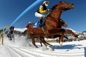 White Turf St. Moritz: these famous international horse races take place on frozen Lake St Moritz over the first three ...