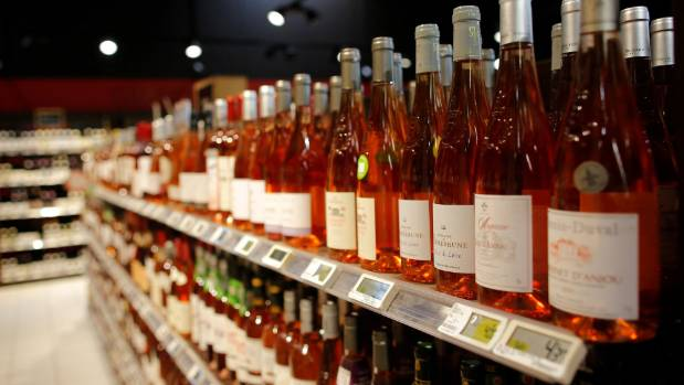 Rose for sale in a French supermarket. We are just beginning to drink rosé  compared to overseas countries.