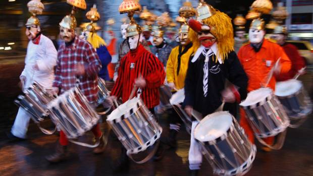 The Morgenstreich parade traditionally kicks off three days of events marking the Basel carnival.