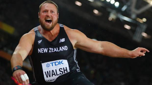 Tom Walsh wasn't the strongest in the world champs shot put field, but he did throw the furthest legally.