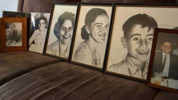 Sabrina Nathan-Kidwell's family members who were in the bus crash from left, Beryl Abraham, Miriama Nathan, Levia ...