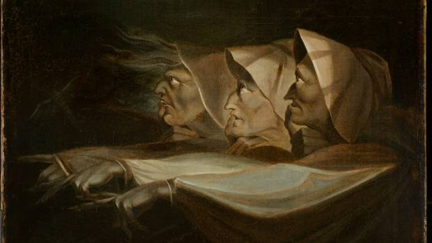 Henry Fuseli Study for the three witches in Macbeth 1798