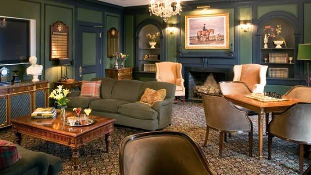 Inside the clubhouse at Trump National Golf Club Bedminster.