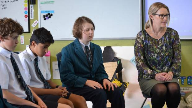 Kristin School is one of many around the country running the mindfulness programme Pause, Breathe, Smile.