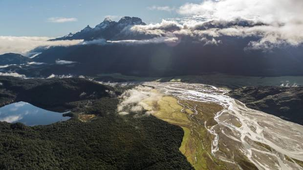 The Hollyford Track from the air.