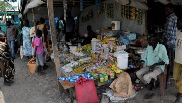 A market stall in Malakal in South Sudan's Upper Nile state.