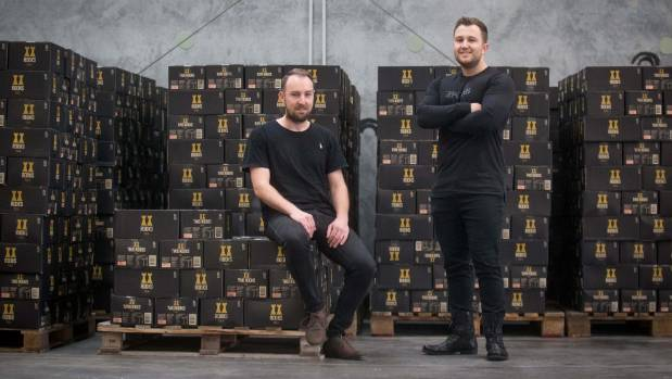 Michael Saaranen, left, and Chris Howard hope to take their Two Rooks Cola to the Australian market  in the next 12 months.