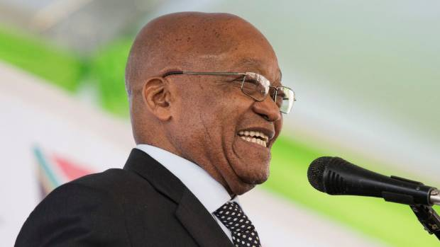 South African President Jacob Zuma's political future hung in the balance before the no-confidence vote.