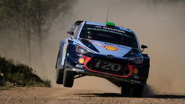 Kiwi Hayden Paddon, competing during the 2017 Rally de Portugal, would love to race in his home country.