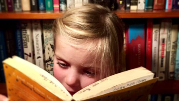Lily Thomas often has her nose in a book.