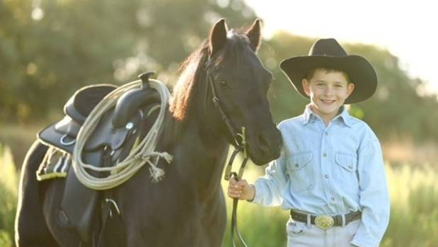 Blenheim boy Harvey Brownlee was kicked in the head by a horse last year.