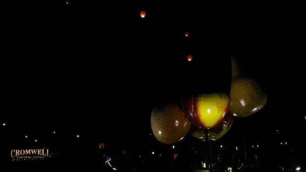 Cromwell's night sky was glowing with lanterns as part of the Light Up Winter Festival.