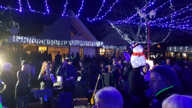 A huge crowd enjoyed brightening up the cold winter night at Cromwell's Light Up Winter Festival.