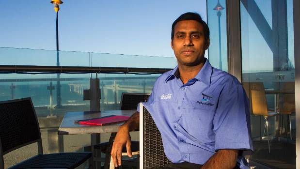 Salt on the Pier restaurant manager Sam Alla is worried people will stop visiting New Brighton if the pier is closed.