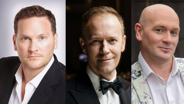 From left, Chris Crowe, Tim Beveridge and Karl Perigo have all started in The Phantom of the Opera.