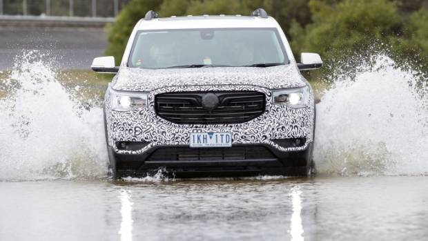 Holden engineers still tweaking Acadia for local consumption. We won't see it on sale until 2018.