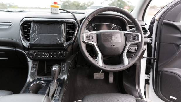 No infotainment for you! But from what we can see and feel, quality of Acadia interior impressive.