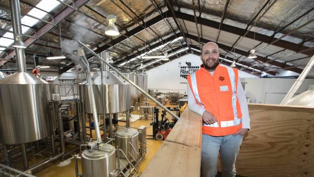 Matt Stevens, one of the founders of ParrotDog, in the company's new brewery in Lyall Bay.