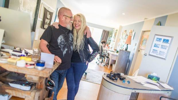 Gavin Bradley and Maggie Mouat run three businesses from their house on Raumati Beach on the Kapiti Coast.