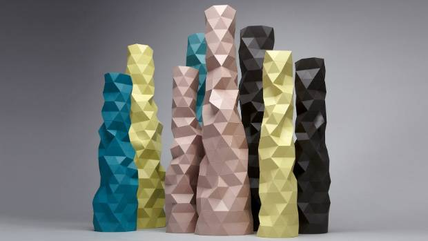 "Promoted and sold by Moaroom in Paris, these ""Faceture"" vases by Kiwi furniture designer Phil Cuttance were awarded the ..."