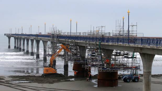 The Christchurch City Council hopes to open another 60 metres of pier every eight weeks or so as repairs progress.