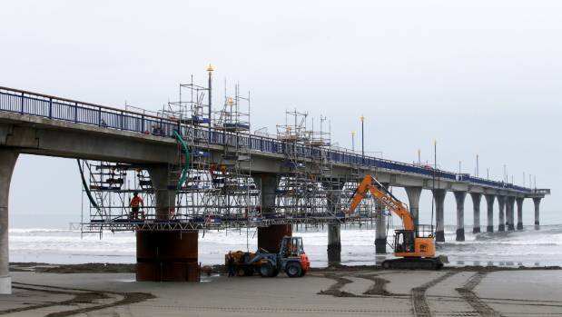 Contractors have endured some complications making repairs to the New Brighton Pier, forcing it to close to the public ...