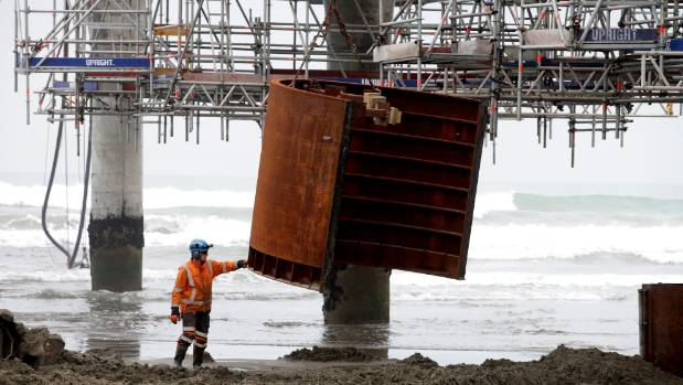 Contractors have endured some complications making repairs to the New Brighton Pier, meaning it will have to close to ...