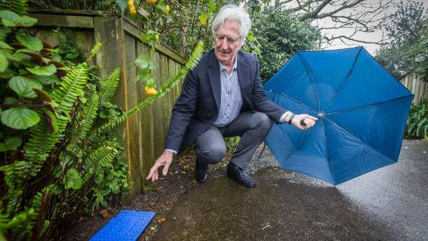 New Plymouth District councillor Richard Handley is the first person to volunteer to have a water meter installed on his ...