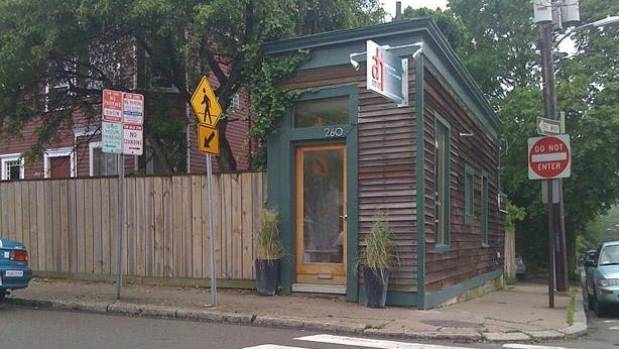This tiny house on a corner in Cambridge, Massachusetts was built in 1908 when the owner was annoyed the neighbour ...