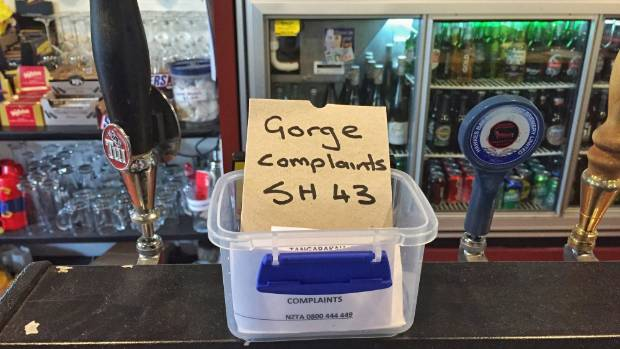 The gorge has been in such a bad condition in the past, the Whangamomona Hotel even set up a complaints jar for tourists ...