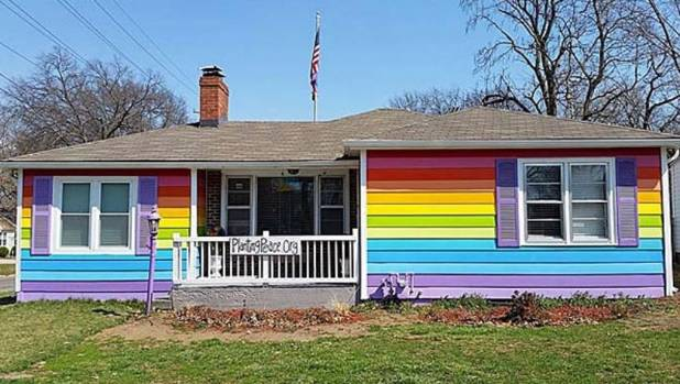 Rainbow pride is alive and well in Topeka, Kansas. The 'Equality House' is directly opposite the Westboro Baptist ...
