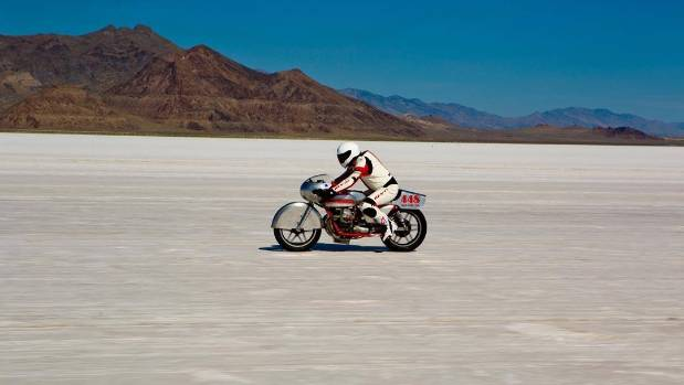 Noonan giving her a twirl on the Salt Flats.