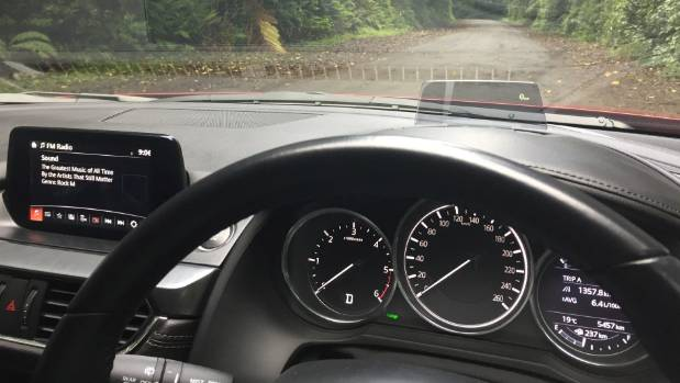 Mazda6 interior includes a colour heads-up display.