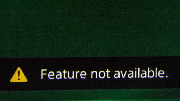 """""""Feature not available""""  glared back as we repeatedly tried to open Skype on our 'smart' TV."""