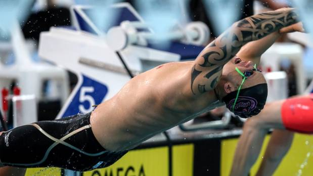 Backstroker Corey Main is a rising star of New Zealand swimming.