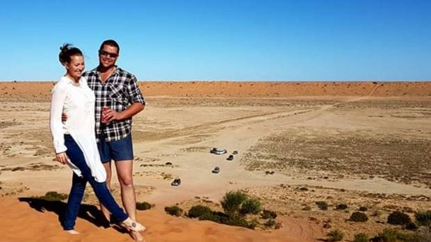 Elizabeth Docherty was travelling in outback Queensland with her husband in June.