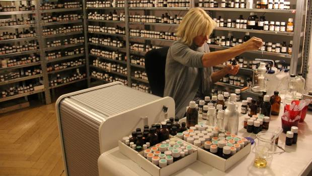 Sissel Tolaas' smell lab in Berlin, where she has 7000 different smells.