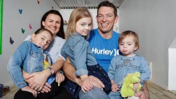 Jackie and Darren with their daughters Grace Charlie and Sophia who has congenital heart disease