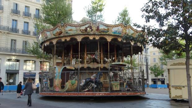 The carousel, at the port of Marseille, which Esther Paddon was so determined to see again on a return trip to the city.
