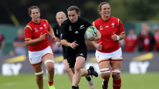 Fullback Selica Winiata scored tries in the eighth, 64th and 74th minutes in the Black Ferns' 44-12 World Cup win over ...
