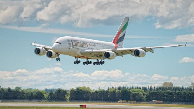 Emirates A380 flights will deliver 20,000 visitors to Christchurch this year.