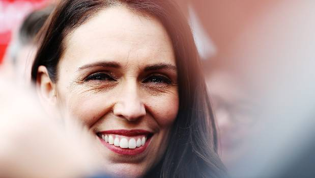 New Labour Party leader Jacinda Ardern's wide smile reflects her promise of ''relentless positivity''.