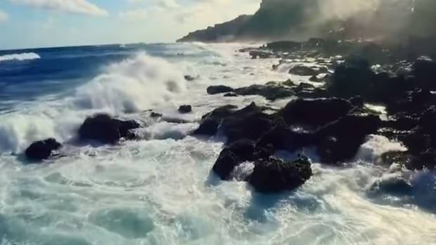 The video shows off some of Puerto Rico's coastline.