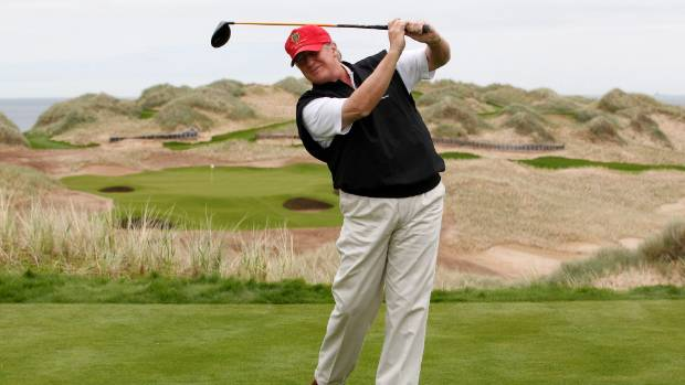 Trump's Scottish golf resorts lose nearly £20m