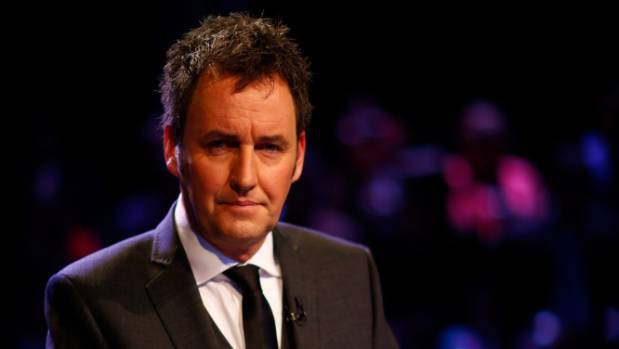 Broadcaster Mike Hosking during the TVNZ 2014 election debate.