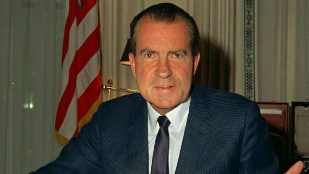 Former US president Richard Nixon came off less than gracious in Hunter S. Thompson's portrayal of him on the campaign trail.