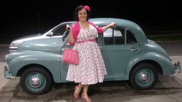 Janine Swainson with her pride and joy, 1952 Morris Minor, Mavis. Over Easter, Mavis won the Best Standard Original ...